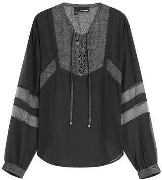 The Kooples Blouse with Sheer Panels