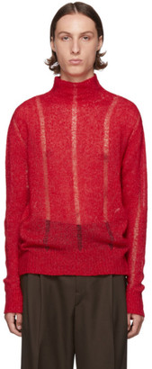 Our Legacy Red Submarine Rollneck Sweater