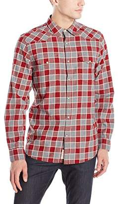 Lucky Brand Men's Santa Fe Western Shirt In Burgundy Multi