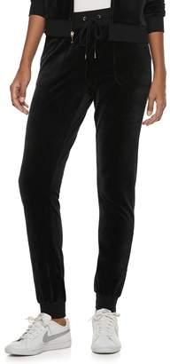 Juicy Couture Women's Solid Velour Jogger Pants