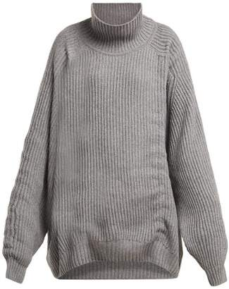 Hillier Bartley Oversized Gathered Cashmere Sweater - Womens - Grey