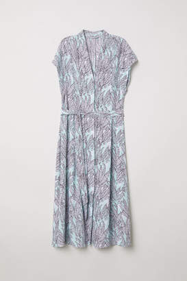 H&M Patterned Dress - Turquoise