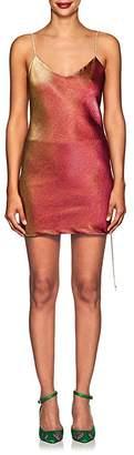 Area Women's Dora Cotton-Blend Lamé Slipdress