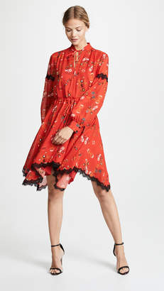Derek Lam 10 Crosby Long Sleeve Dress With Handkerchief Hem