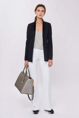 Amanda Wakeley Midtown Midnight Silk Back Jacket
