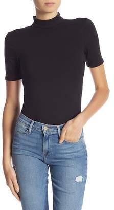 Frame Short Sleeve Open Back Bodysuit