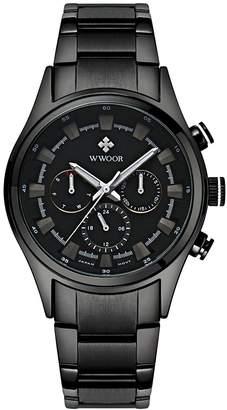 Gents WWOOR Qingmei Military Men's Watches Sport Analog 6 Hands 24 Hours Luminous Quartz Watch WR-8015
