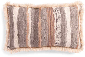 14x22 Chindi Fringe Trim Pillow