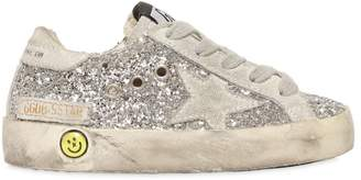 Golden Goose Super Star Glittered Leather Sneakers