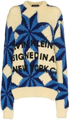 Calvin Klein Star design Intarsia wool jumper