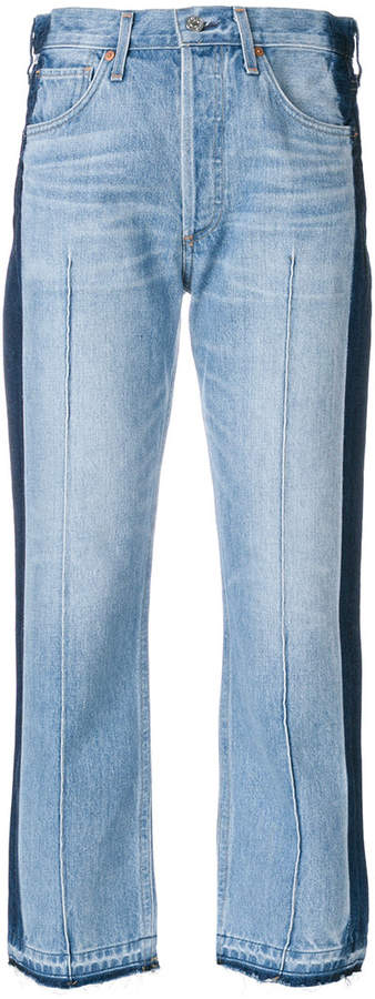 Citizens Of Humanity side stripe cropped jeans