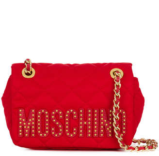 Moschino quilted logo shoulder bag