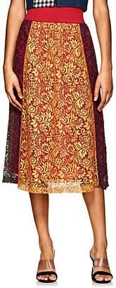 Cfgoldman Women's Colorblocked Floral Lace Midi