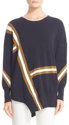 Women's Belstaff Soraya Asymmetrical Intarsia Sweater $595 thestylecure.com