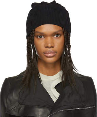Rick Owens Black Medium Wool Beanie