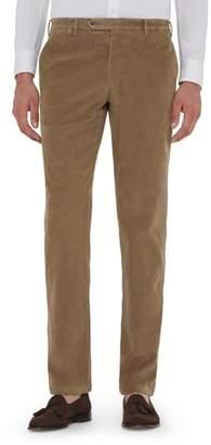 Zanella Curtis Flat Front Stretch Corduroy Cotton Trousers