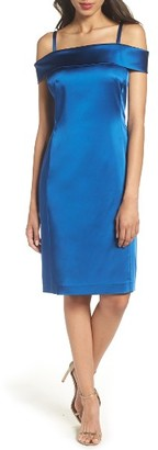 Women's Tahari Off The Shoulder Sheath Dress $138 thestylecure.com
