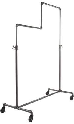 Econoco Vintage Pipeline Adjustable Double Tier Rolling Rack
