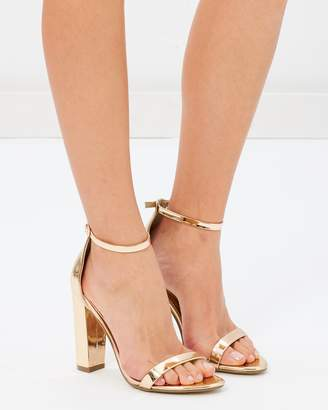 Missguided Block Heel Barely There Sandals
