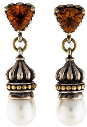 Lagos Pearl & Citrine Caviar Earrings