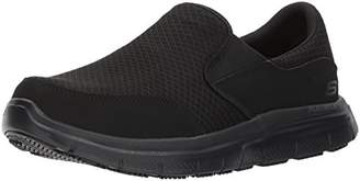 Skechers Men's Flex Advantage Slip Resistant Mcallen Slip On - 9.5 3E - Extra Wide