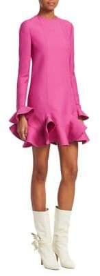 Valentino Flutter-Hem Dress