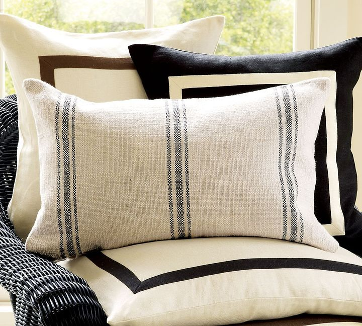 French Stripe Lumbar Pillow Cover