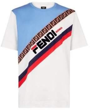 Fendi Mania Knit Logo Tee