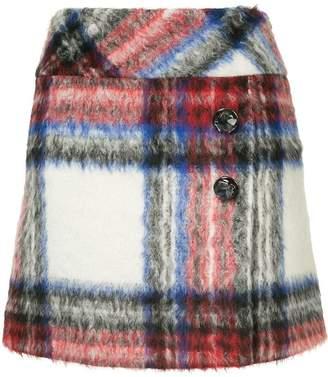 Moschino plaid mini skirt