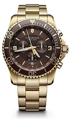 Victorinox Men's 241691 Maverick Chrono Analog Display Swiss Quartz Gold Watch