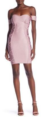 Wow Couture Metallic Criss Cross Dress