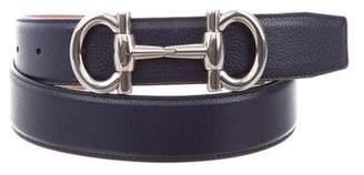 Salvatore Ferragamo Horsebit Leather Belt