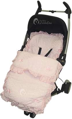Baby Jogger For Your Little One Broderie Anglaise Footmuff/Cosy Toes Compatible with Pink