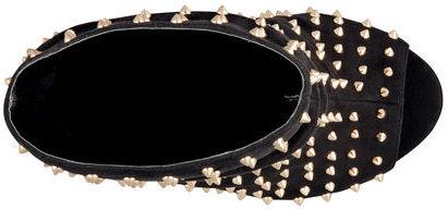 PeepToe Robyn Peep-Toe Studded Booties
