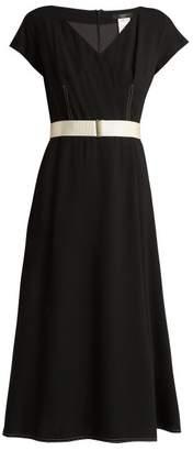 Max Mara A-line crepe midi dress