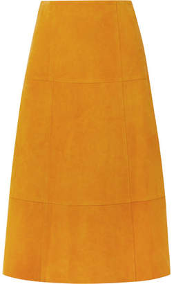 Elizabeth and James Ryker Suede Midi Skirt - Marigold