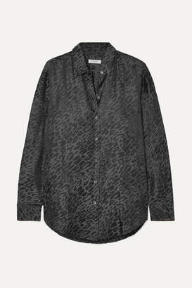 Equipment Essential Silk-jacquard Shirt - Leopard print
