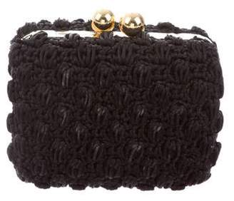 Dolce & Gabbana Crochet Frame Clutch