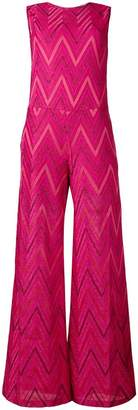 M Missoni zigzag print wide leg jumpsuit