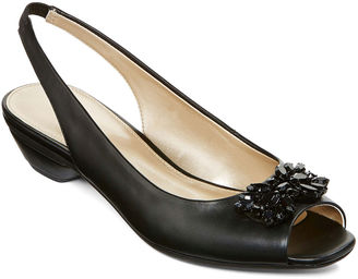 East Fifth east 5th Helena Embellished Slingback Pumps $60 thestylecure.com