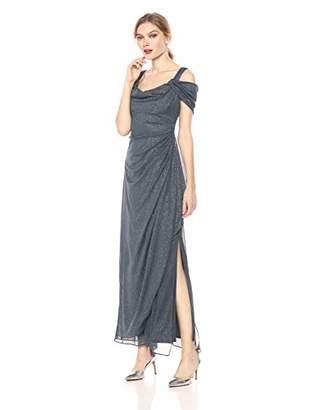 Alex Evenings Women's Cold-Shoulder Dress (Petite and Regular)