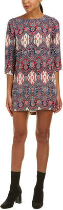 Glam Printed Shift Dress