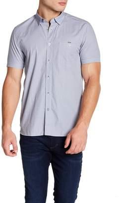 Ted Baker Silamor Short Sleeve Geo Print Trim Fit Shirt