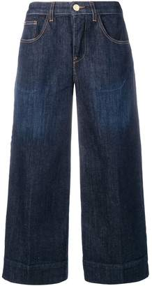 Twin-Set creased denim culottes
