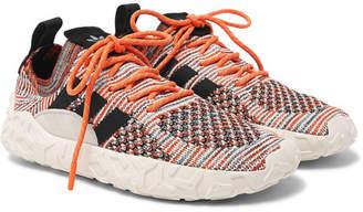 adidas F/22 Suede-Trimmed Primeknit Sneakers - Orange