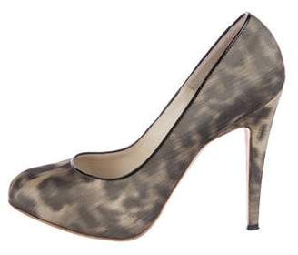 Brian Atwood Printed Canvas Pumps
