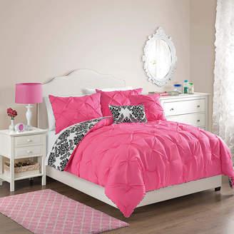 VCNY Olivia Pintuck Damask Reversible Comforter Set