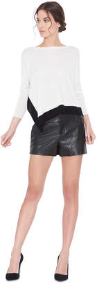 Alice + Olivia CADY LEATHER SHORTS
