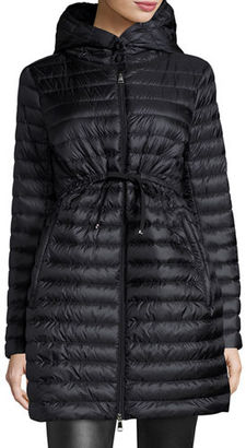 Moncler Barbel Hooded Puffer Coat $995 thestylecure.com