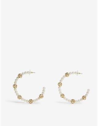 BaubleBar Amorelle brass hoop earrings